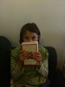 my friend with her new Betsy book